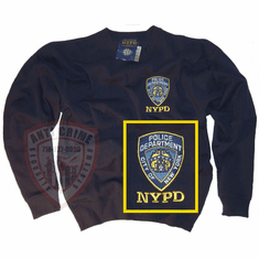 NYPD NAVY BLUE CREW NECK SWEATSHIRT WITH OFFICIAL EMBROIDERED LOGO