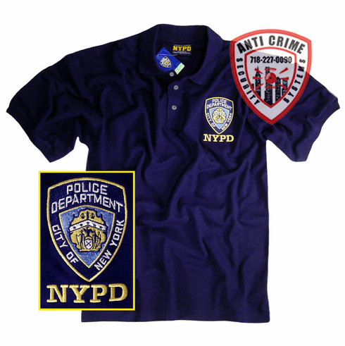 NYPD NAVY BLUE POLO SHIRT WITH OFFICIAL EMBROIDERED LOGO