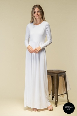 """Anne"" LDS Temple Dress - White"