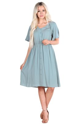 Aria Modest Dress in Sage - doubles as Nursing Dress