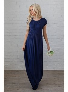 53f8837204d7 Athena Modest Maxi Dress or Bridesmaid Dress in Navy Blue, Dark Blue * RESTOCKED*