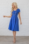 Bryn Modest Dress or Bridesmaid Dress in Blue / Royal Blue / Cobalt