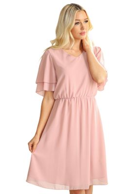 Claire Modest Bridesmaid Dress in Mauve Pink