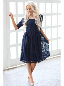Navy Casual Dress