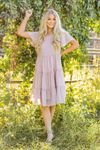 Hannah Modest Spring Dress in Pale Dusty Rose Pink, Cute Modest Summer Dresses