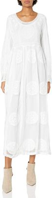 """Lily"" LDS Temple Dress w/Pockets in White Lace"