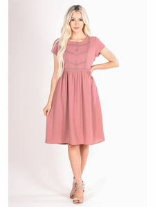 fbf9961294e4 Kate Modest Dress in Mauve Pink   Dusty Rose