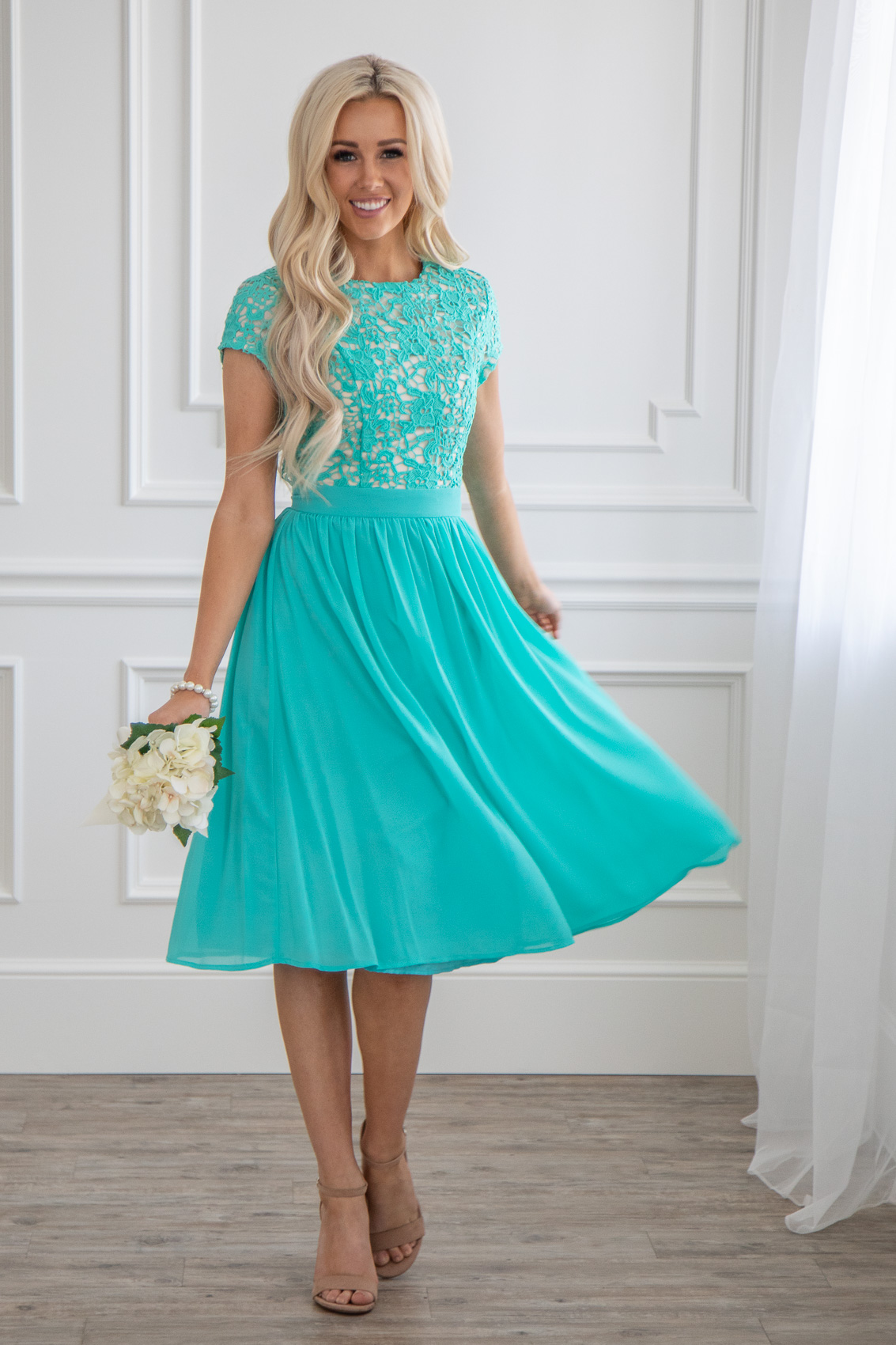 teal blue wedding dresses semi formal modest bridesmaid dress in turquoise blue 7929