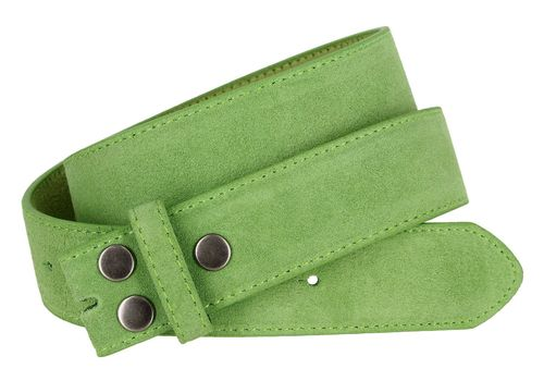 """BS66 Lime Suede Leather Belt Strap 1 1/2"""" Wide"""