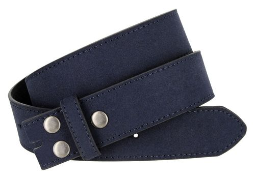 "BS66 Navy Suede Leather Belt Strap 1 1/2"" Wide"