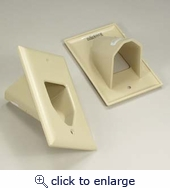 1-Gang Recessed Low Voltage Recessed Cable Wall Plate