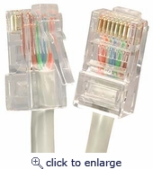 1Ft Cat.6 CMR Non-Boot Patch Cable Gray