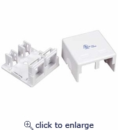 2Port RJ45 Surface Mount Box  (Box only) for CAT5 or CAT6