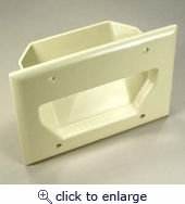 3 Gang Recessed Low voltage Cable Wall Plates