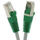 Cat.6 Shielded Crossover Cable Gray Wire/Green Boot