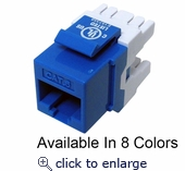 CAT6 MIG+ Keystone Jack, Unshielded, Component Rated, High Density