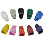 Colored Patch Cord Boots for RJ45 Plugs