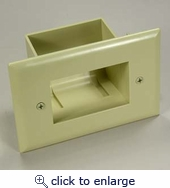 Easy Mount Recessed Low Voltage Cable Wall Plate