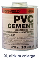 Med Body Cement Clear 1/4 PT