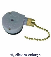 Pull Chain Brass SPTDT 2 Speed Off-On-On