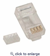 RJ45 Cat.6 Plug for Solid 50 Micron 20 pack