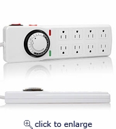 Timer Surge Protector 8-Outlet 4Ft Cord