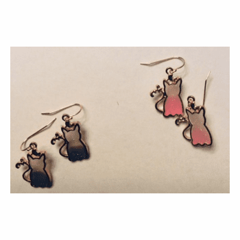Cat Glazed Earrings