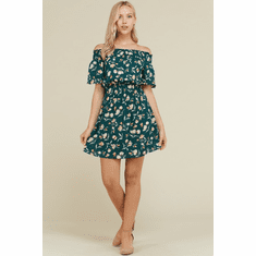 Floral Bell Sleeve Mini
