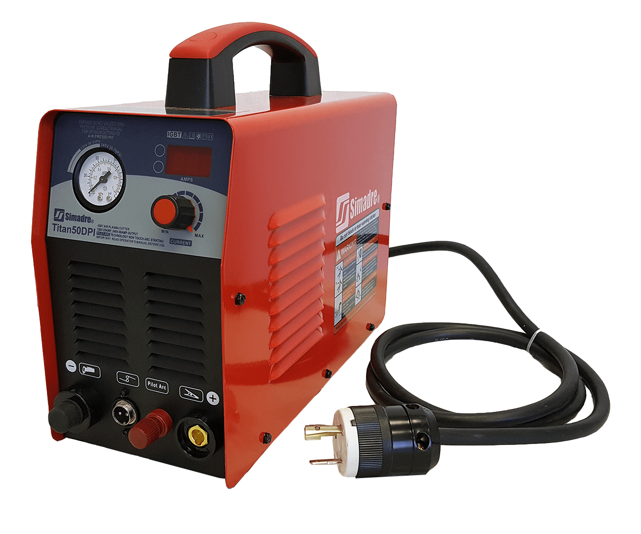 PLASMA CUTTER SIMADRE 50RX 110//220V 50 AMP with 50 CONS 1//2 INCH CLEAN CUT NEW
