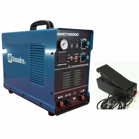 SIMADRE 5200D 50A PLASMA CUTTER 200A TIG ARC MMA WELDER WITH FOOT PEDAL