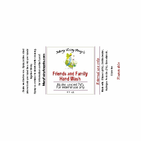 Freinds and Family Hand Wash 4oz