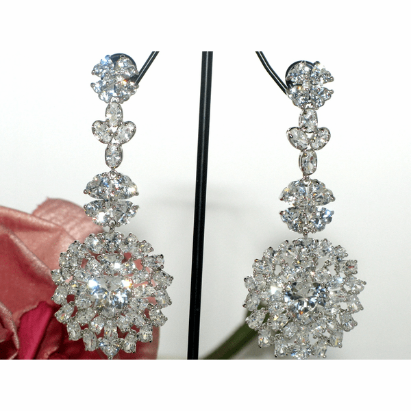 Adriana - New High End Spectacular CZ earrings - SPECIAL ONE LEFT