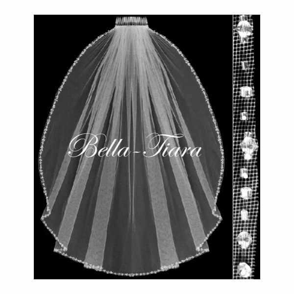 Anna-Crystal edge communion veil <br/>Italian collection