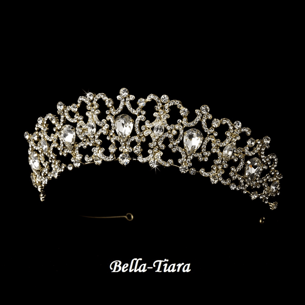 Ava - Exquisite Gold Wedding Tiara