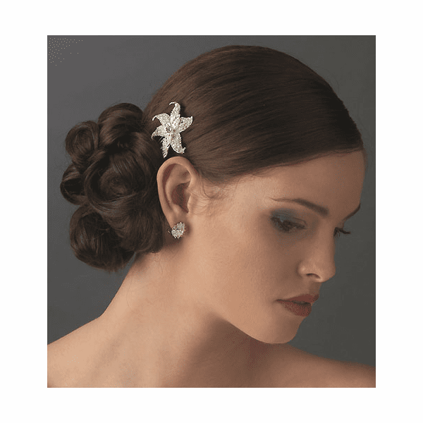 Beautiful starfish bridal hair comb