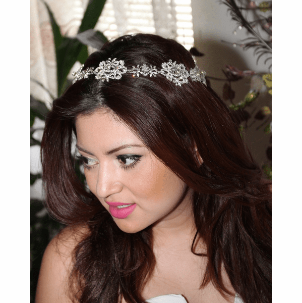 Beautiful swarovski crystal wedding halo headband - SALE