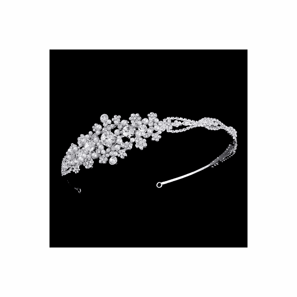 Bellina - Beautiful Vintage pearl and crystal wedding headband - SPECIAL Two left in stock