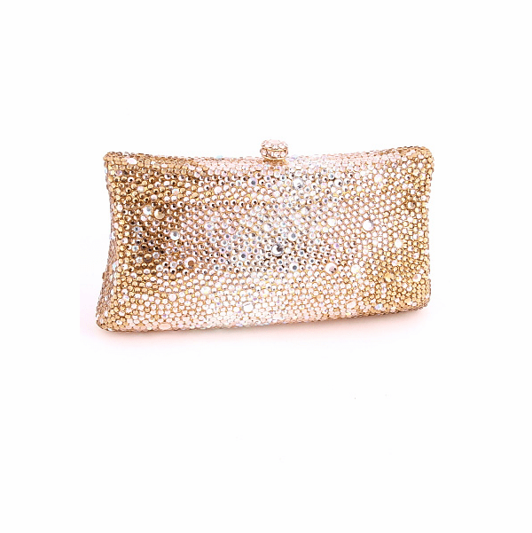 Breathless - Gold Champagne or clear crystal evening purse - SALE -