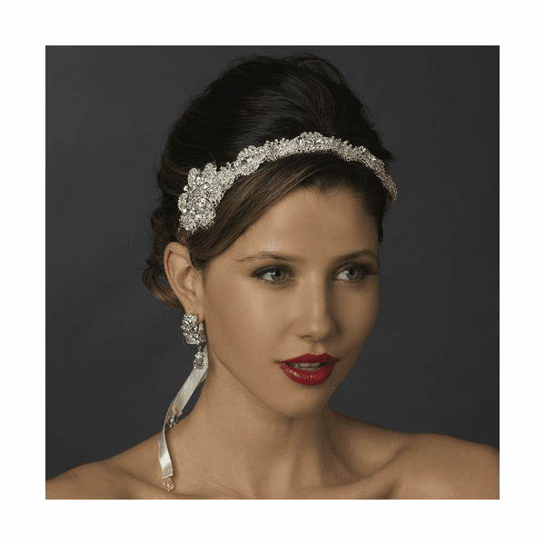 Cara - Royal Collection- vintage Swarovski crystal bridal headband - SPECIAL one left!