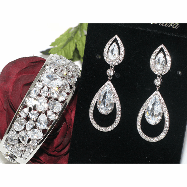 Casilda - Royal Collection CZ wedding set - SALE one set left