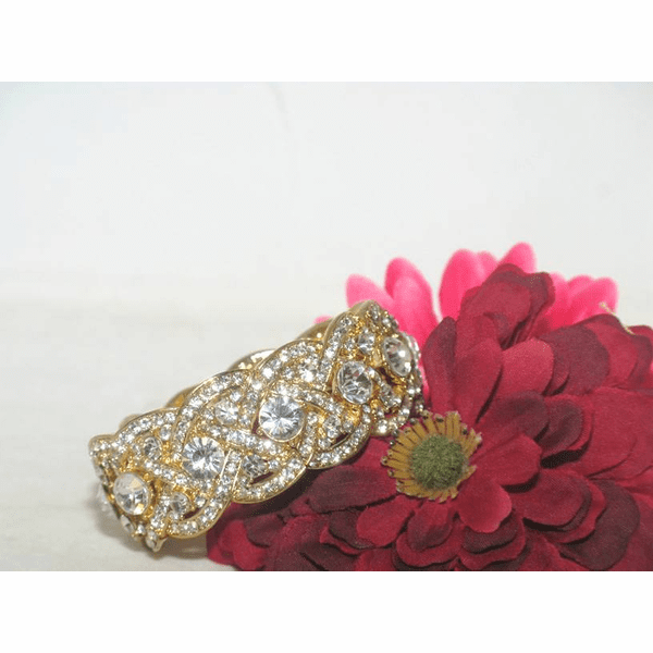Charlie - Gorgeous gold rhinestone stretch bracelet - Sale!!