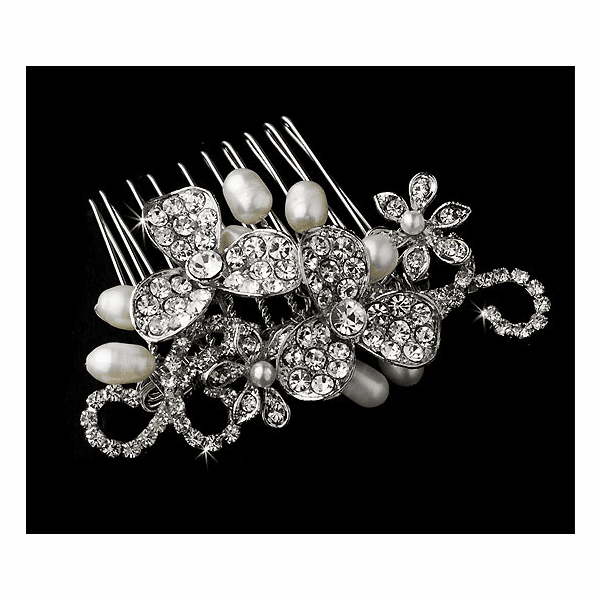 Claudia - Vintage freshwater pearl bridal comb - SPECIAL!!