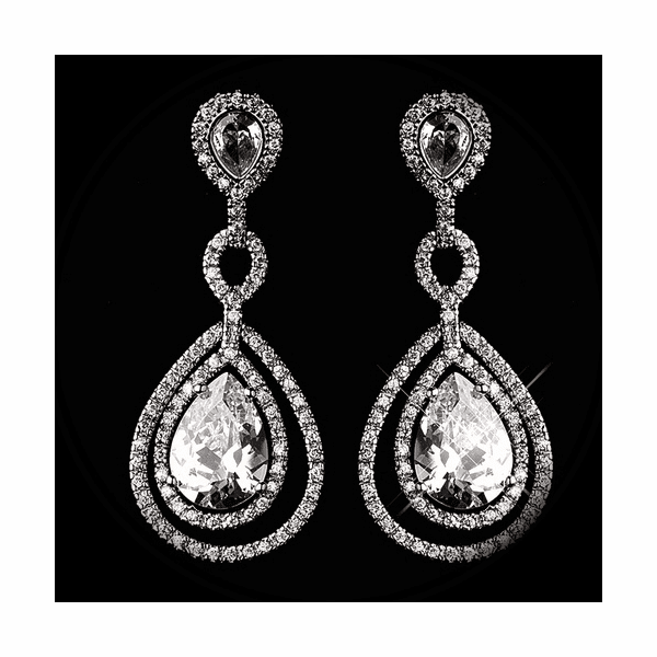 Contessa - Royal collection - Crystal Bridal drop earrings -15% off use code (jewel15)
