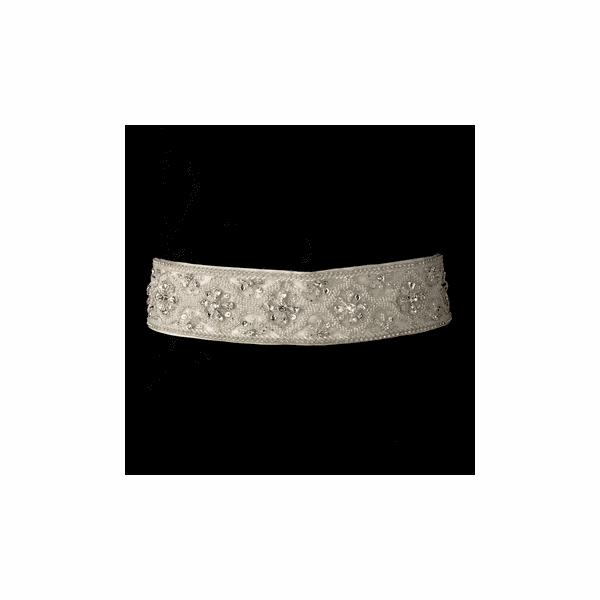 Couture high-end beaded crystal bridal belt - SALE