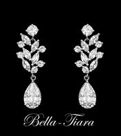 CZ Crystal vine bridal earrings - 15% off use code (jewel15)