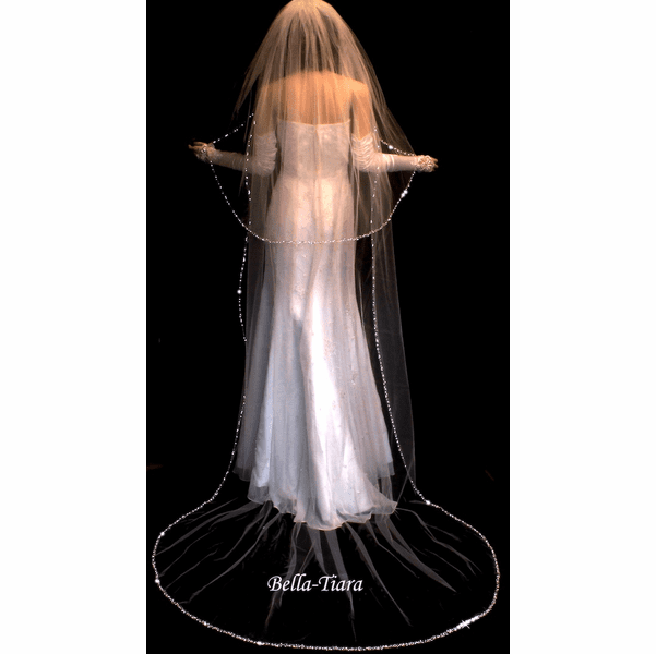 Dazzle Collection - Crystal edge wedding cathedral veil set - SPECIAL