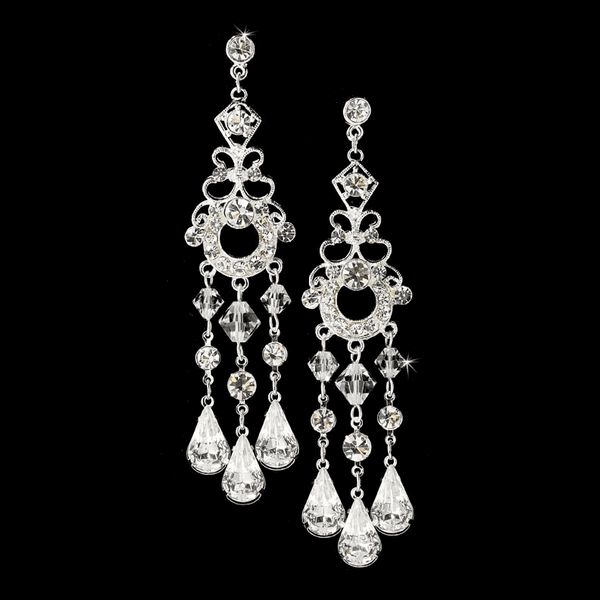Dazzling Silver Swarovski Chandelier earrings - SALE