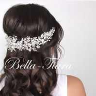 Dazzling Swarovski Crystal wedding hair vine - 15% OFF (tiara15)