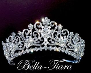 Denise- Royal Collection princess crystal wedding tiara (20% off sale price - tiara20)