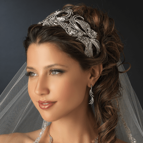 Donatella - Royal Collection bold wedding headpiece - SALE